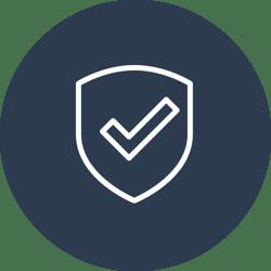 rundt sikkerhet ikon