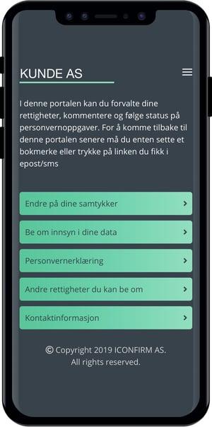 Iconfirm mobilt grensesnitt